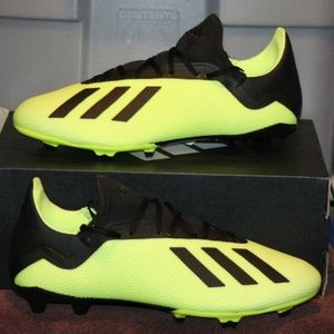 ADIDAS X 18.3 FG Men's Soccer Cleats Yellow NEW